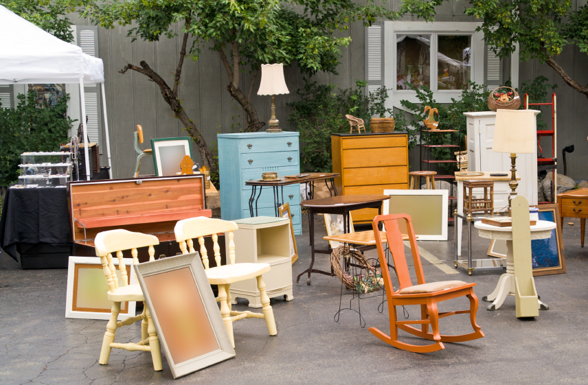 Refurbished Furniture at a Flea Market