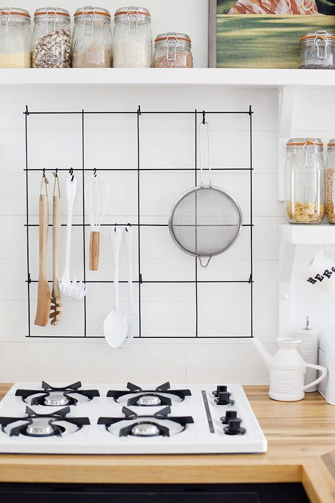 Or Try Hanging Utensils On A Wire Kitchen Rack
