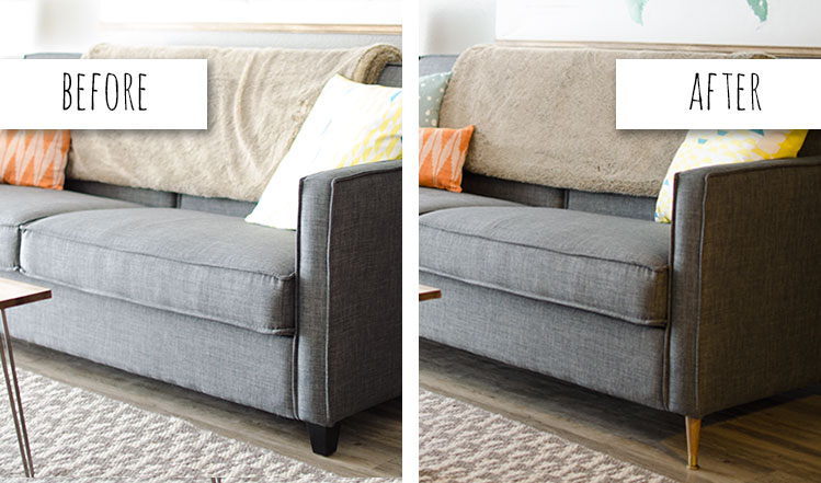 Change Out The Legs On Couches For Looks And Functionality