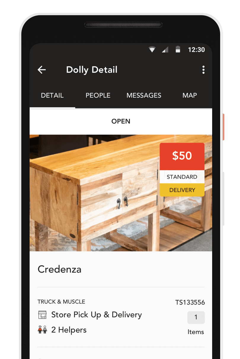 App screen - Dolly Details